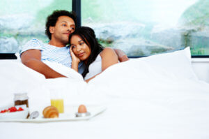 Couple In Bed Cuddling 2Small